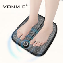 Купить с кэшбэком VONMIE EMS Foot Vibrator Wireless Muscle Stimulator USB Rechargeable Foot Massager ABS Physiotherapy Revitalizing Pedicure Tens