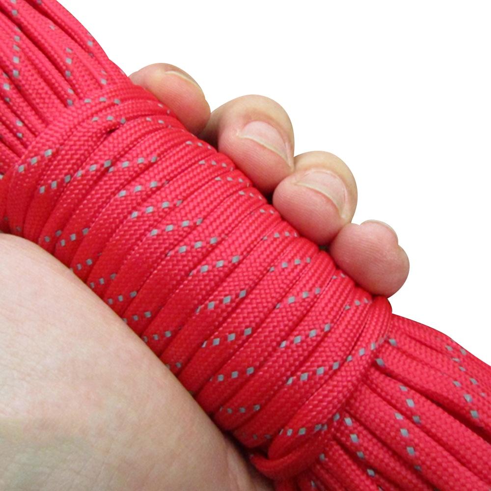 Диаметр 4 мм парашют веревка палатка ремесла отражающая палатка веревка воды исследовать парашют 31 м износостойкость Кемпинг шнур - Цвет: red