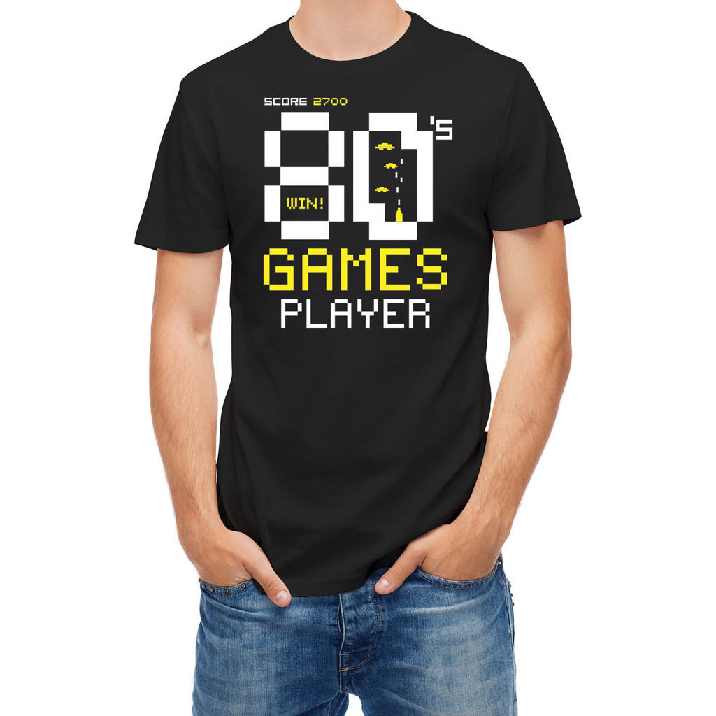 T Shirt Video Games Player Typography Round Neck Best Selling Male Natural Cotton Shirt Summer Fashion Men T-Shirt Base Shirt