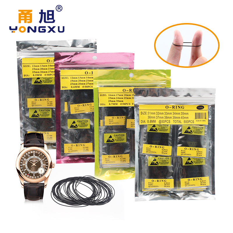 500pcs 750pcs 950pcs 0 5mm 0 6mm 0 7m 0 8mm 12 30mm 16 30mm 31mm 40mm O Ring Rubber Seal Washers Waterproof Round Watch Gaskets in Gaskets from Home Improvement
