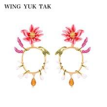 Женские богемные серьги подвески wing yuk tak Разноцветные с
