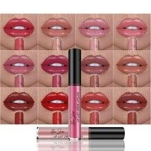 Матовый Увлажняющий блеск для губ, губная помада, Макияж для губ, стойкий блеск для губ, Сексуальная Косметика для макияжа, 12 цветов, Прямая поставка
