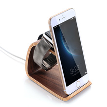 Wood Charger Stand Holder Station Dock Cradle for iPhone 6 6S 6 Plus for Apple Watch 38mm 42mm All Edition
