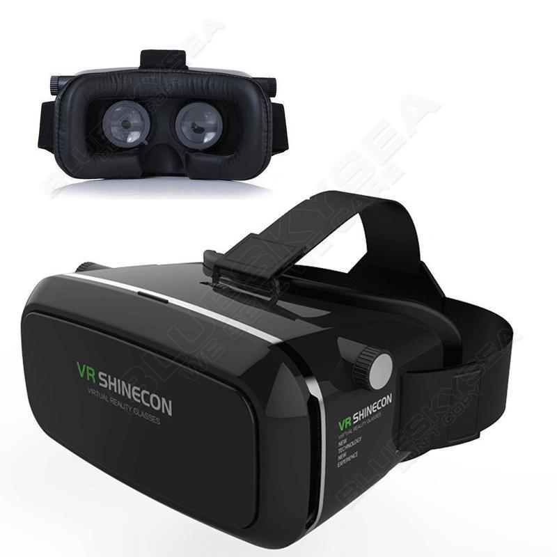 Free shipping 3D Virtual Reality font b VR b font SHINECON Movie Game Glasses BOX For