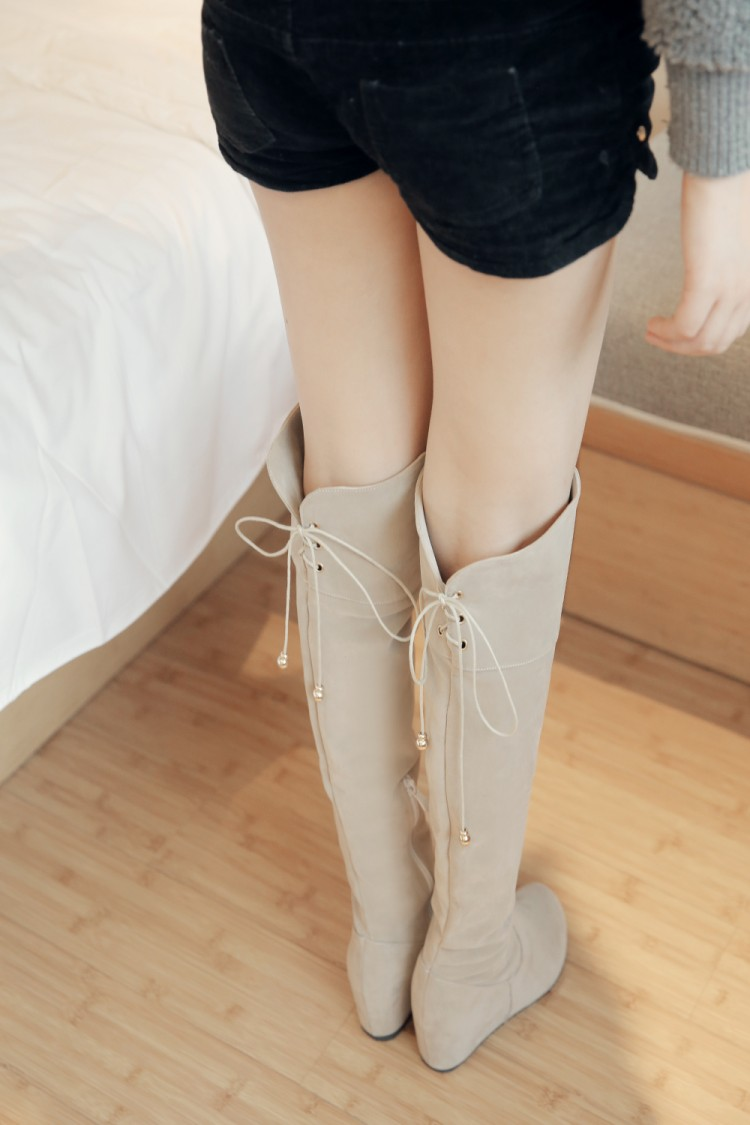 2017 Winter New High Heel Boots Leisure Elegant Heels Sexy Women Shoes Boots Round Toe Thin Heel Leather Boots 1925