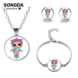 SONGDA Jewelry Sets Baby Glass Sets for Girls