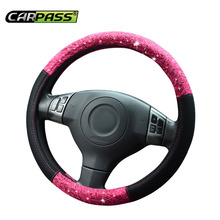 Car-pass 2017 автомобилей Стайлинг Весна розовый/красный Универсальный чехол на руль, автомобиль аксессуары 38 см рулевого управления- крышка колеса