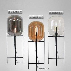 Image 5 - الحديثة المنزل ديكو الإضاءة الشمال الطابق أضواء LED غرفة المعيشة الدائمة تركيبات الزجاج الإضاءة مصابيح أرضية غرفة نوم