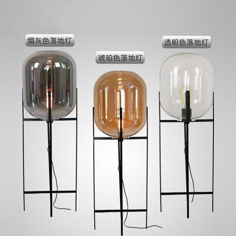 Image 5 - Modern home deco lighting Nordic floor lights LED living room standing fixtures Glass illumination bedroom floor lamps-in Floor Lamps from Lights & Lighting