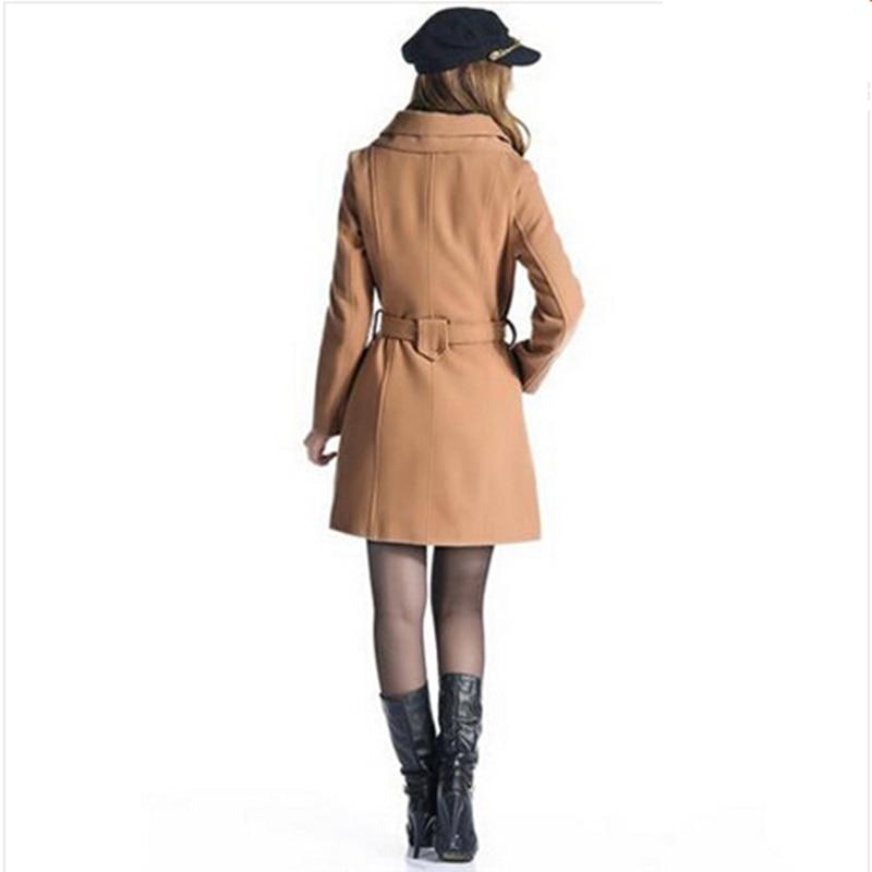 Tranchée Manteau 1 2015 5 Taille Laine Arc De Femmes 4 2 Femelle vent Femme Hiver Ceintures Coupe Plus 8 3 Manteaux Vêtements 6 Long 7 Dot Nouvelle Slim E5wCxqAnf