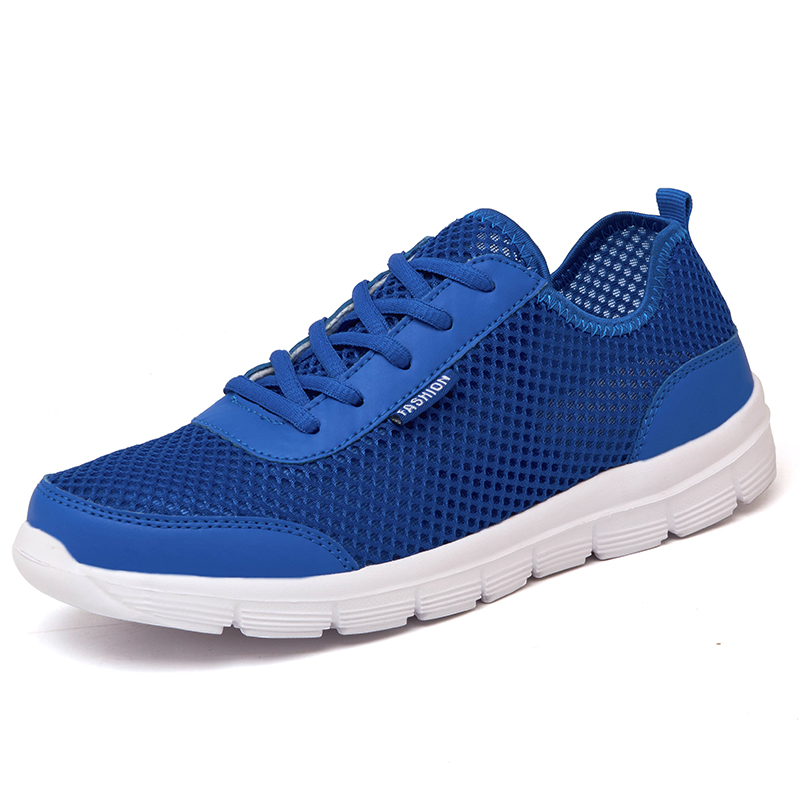 Fashion Men Shoes For Summer Casual Shoes Man Lace Up Breathable Mesh Shoes For Lovers Light Flats Size Plus 35-46