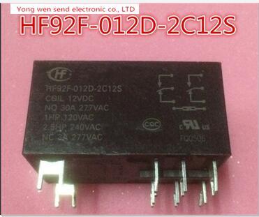 relay HF92F-012D-2C12S HF92F-012D-2C12S-12VDC HF92F012D2C12S-12VDC HF92F-012D HF92F-2C12S 12VDC DC12V 12V  DIP 2pcs/lot реле omron 2 h1 dc12v gen dpdt 1a 12v h1 12vdc 8pin 10pcs lot g5v 2 h1 12vdc