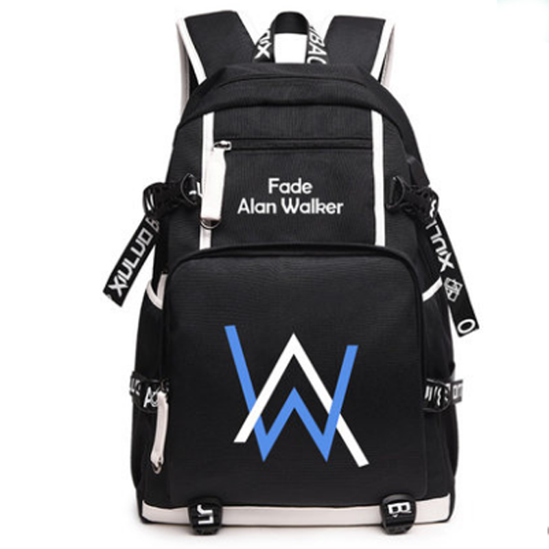 Alan Walker Faded School Bag Backpack Men Women Unisex Boys Girls Casual Bag Glow in the Dark alan walker