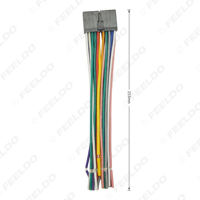 feeldo 20pin universal aftermarket car head unit dvd stereo radio wiring  harness cable plug#2326-in cables, adapters & sockets from automobiles