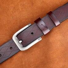 Stylish Luxury Genuine Leather Pin Buckle Belt For Men