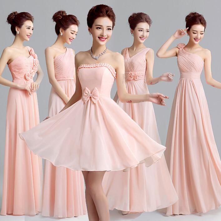 Hermana de la novia estilo griego largo princesa vestidos de dama de ...
