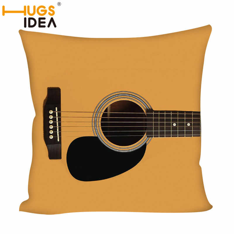 Superb Hugsidea Cute Cartoon Guitar Printed Cushion Cover Throw Pillowcase Car Sofa Pillow Cover Outdoor Chair Waist Cushions Case Ocoug Best Dining Table And Chair Ideas Images Ocougorg