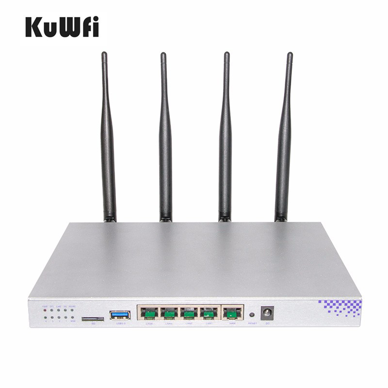 OpenWrt 802.11AC 1200Mbps 2.4G 5G Dual Band Wifi Router MT7621 Chipset Gigabit Port High Power Wireless Router Long Wifi Range