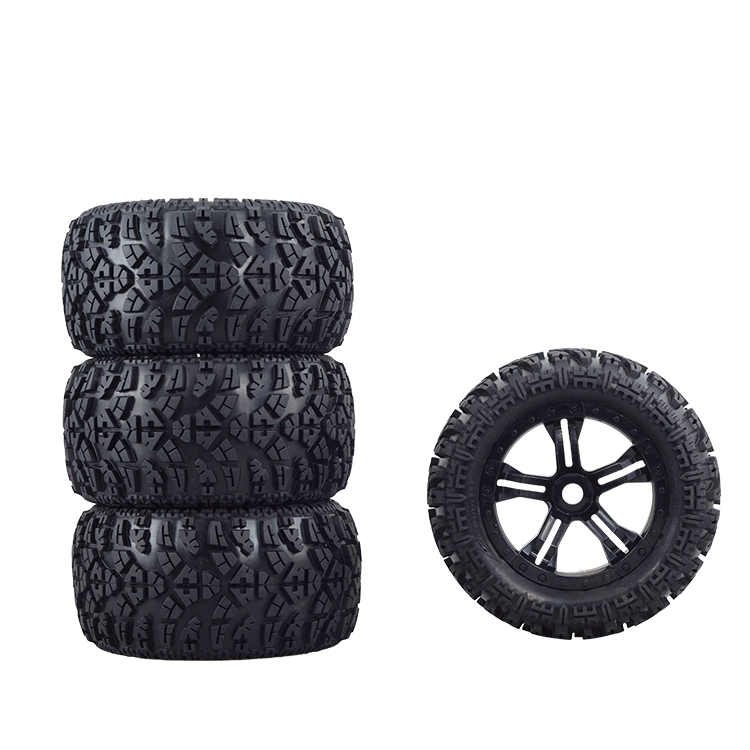 2pcs or 4pcs TM racing Bigfoot E63 modified food huwena wear-resisting tire 17MM with black feet 7.1x4.5 inches Longzhua tire 2pcs pro line rock rage 3 8 inch tire w f 11 black 1 2inch offset 17mm wheels for tmaxx erevo summit 1199 13