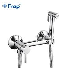 Frap 1 Набор твердая латунная трубка холодная и горячая вода смеситель для душа с Биде Насадка для душа с одной ручкой кран 7503