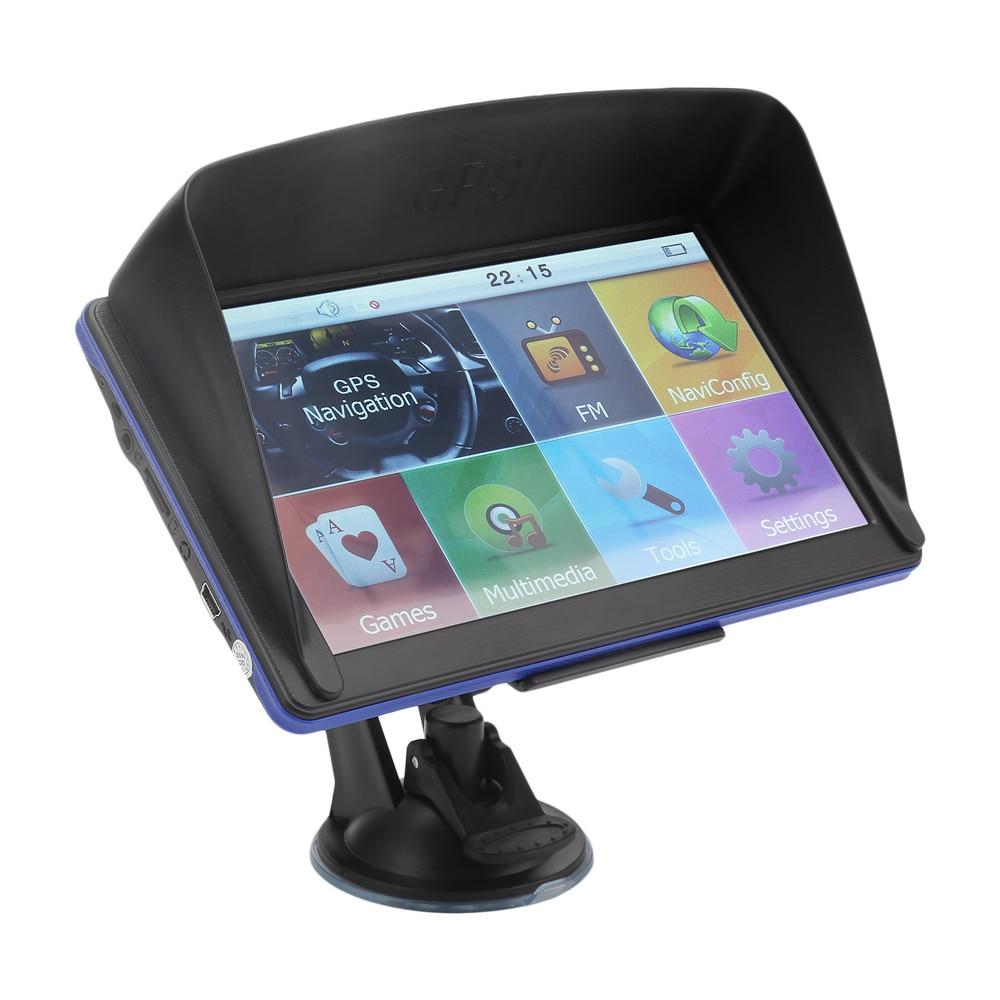 7 inch car gps navigation truck gps navigator touch screen gps navigation optional free map. Black Bedroom Furniture Sets. Home Design Ideas