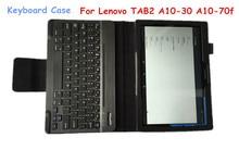 Tab3 10 tastatur case für lenovo tab2 tab3 a10-70l a10-30 a10-70f x70f 10,1 bluetooth tastatur case abnehmbare drahtlose