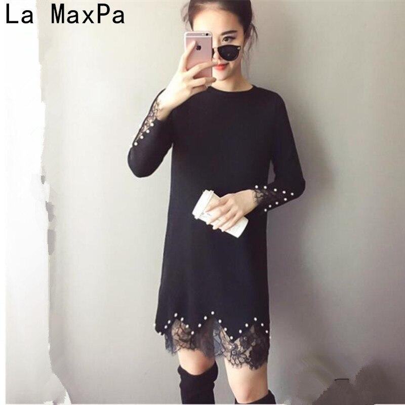 la-maxpa-4xl-women-beading-dress-pullovers-2018-new-winter-warm-long-sleeve-knitted-dress-lace-patchwork-dresses-plus-size