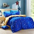 Домашний текстиль  роскошный сплошной цвет  точка  луна и звезды 3/4 шт.  Комплект постельного белья  постельное белье  покрывало  простыня  на...