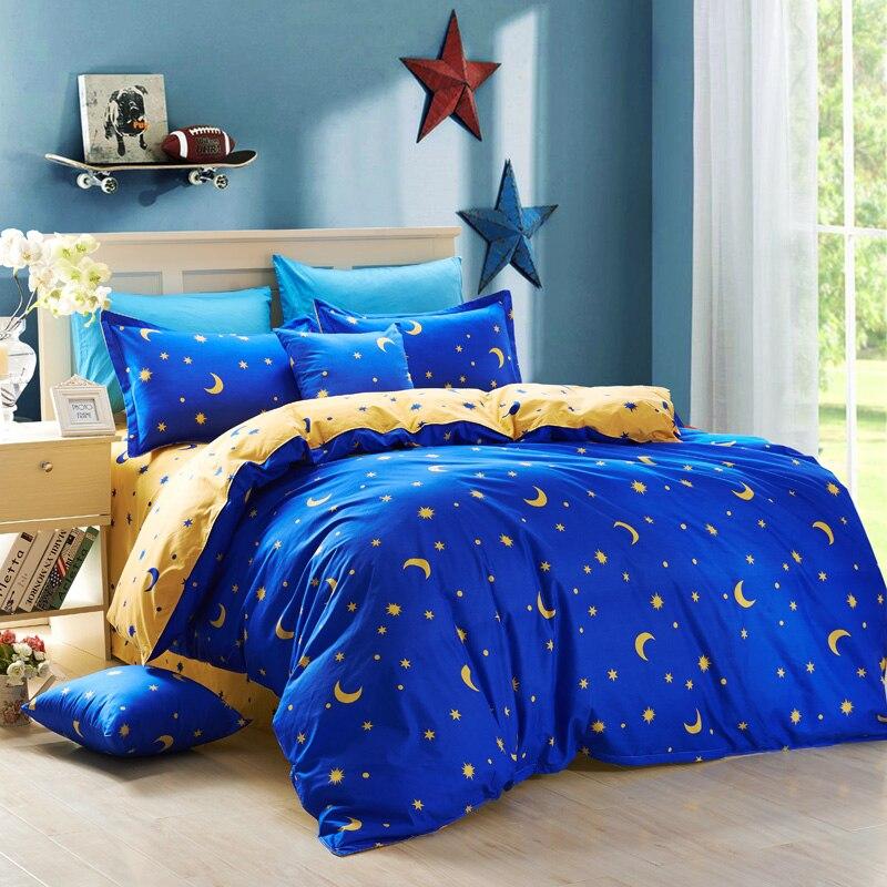 Textiles para el hogar, de lujo color sólido, punto, la luna y las estrellas 3/4