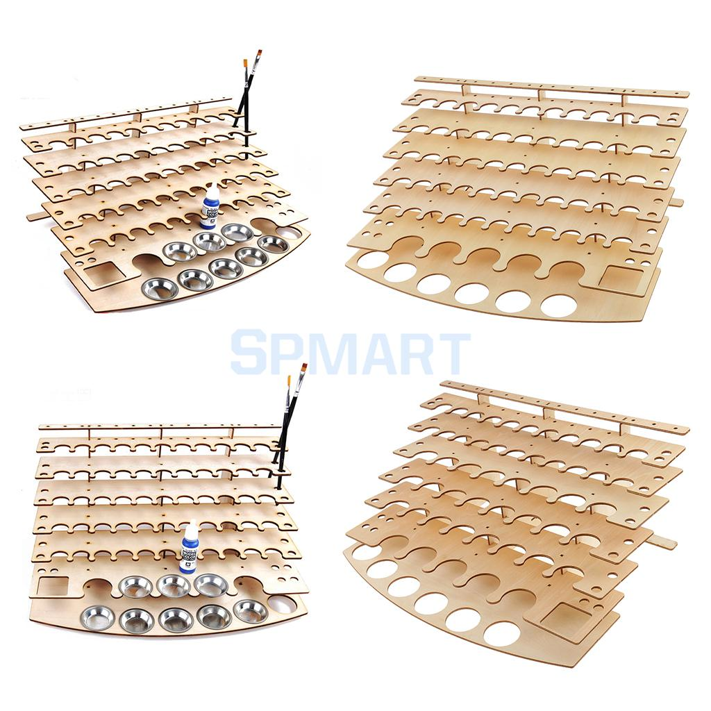 Paint Bottles Rack Model Organizer Painting Brushes Storage Holder Tools Stand