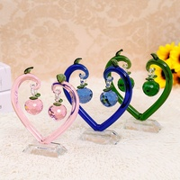 6 Colors High grade Crystal Apple Love Tree Ornaments Valentine Birthday Gifts Home Accessories Wedding Gifts