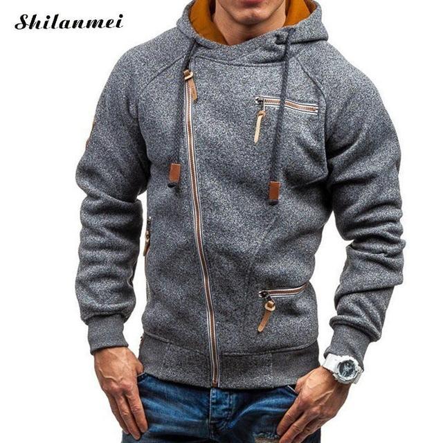 designer fashion 86bdc 40842 2018 Winter Warme Pullover Männer Langarm Slim Zipper Mantel Verdicken  Männliche Mit Kapuze Sweatshirts Mode Sport Oberbekleidung