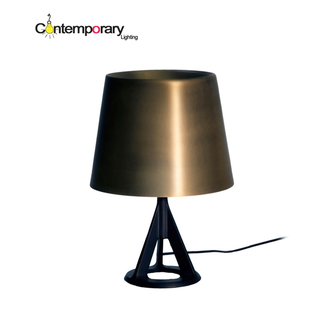 British industrial cast iron base polished brass shade table lamp british industrial cast iron base polished brass shade table lamp for bedroom living room residential and aloadofball Image collections