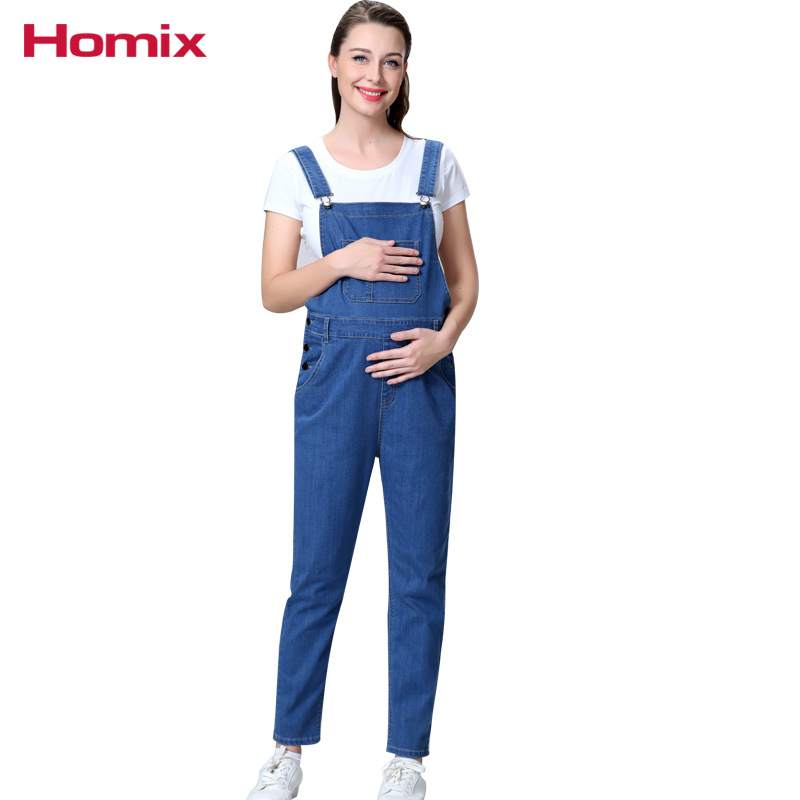 Homix Maternity Denim Dungarees Pregnant Clothes Pregancy Clothing Jeans