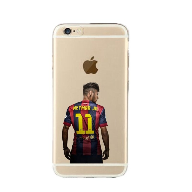 Football Stars Messi Neymar Jersey Coque for iPhone 7 7plus 6S 6 5S SE Case Ultra slim transparent Silicone soft TPU Phone Cover
