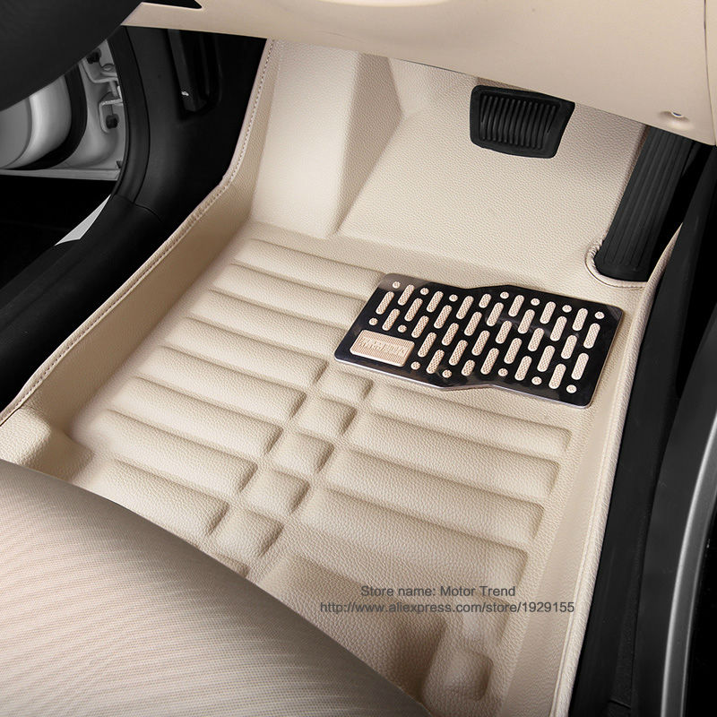 Special car floor mats waterproof fit for Audi A3 high quality all weather 3D car-styling carpet floor rug liners (2014-present) 2014 5d car fioor mats one step making newest special for volksiwagen golf 7