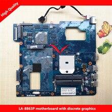 Fit für samsung np355c4c np355v5c qmle4 la-8863p laptop motherboard ba59-03568a 100% getestet