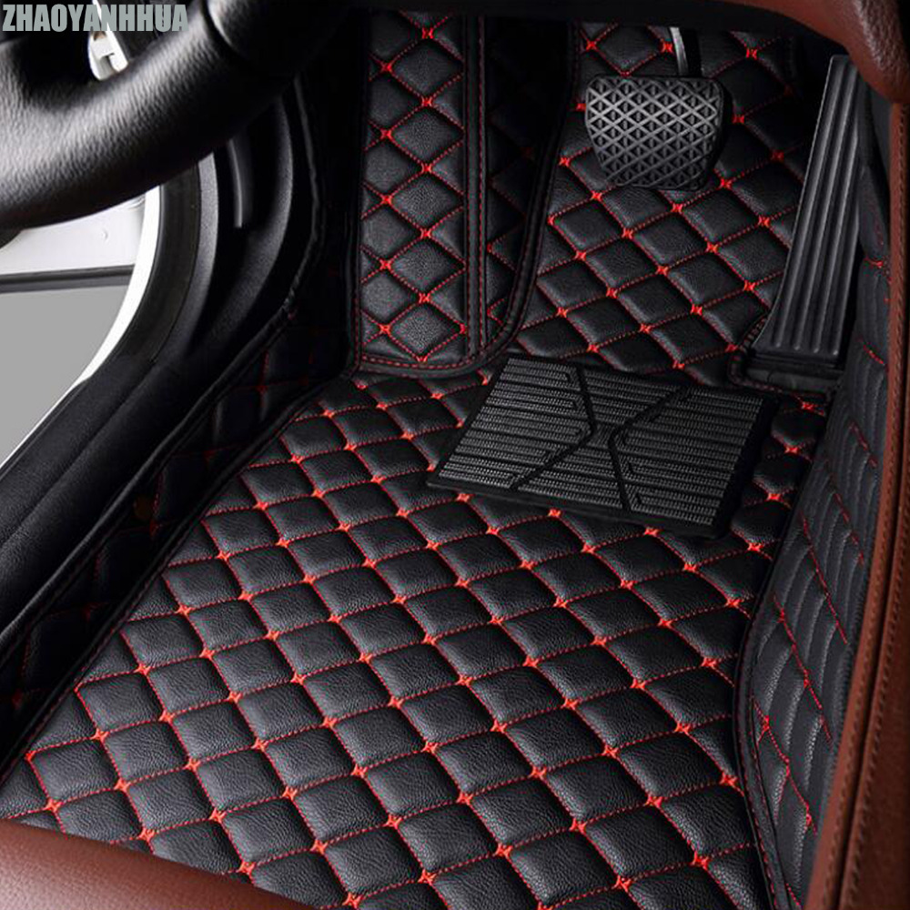 ZHAOYANHUA Car floor mats for Mercedes Benz GLA CLA GLK GLC G ML GLE GL GLS A B C E S W204 W205 W211 W212 W221 W222 W176 liners kalaisike linen universal car seat cover for mercedes benz all models a160 180 b200 c200 c300 e class gla gle s600 car styling