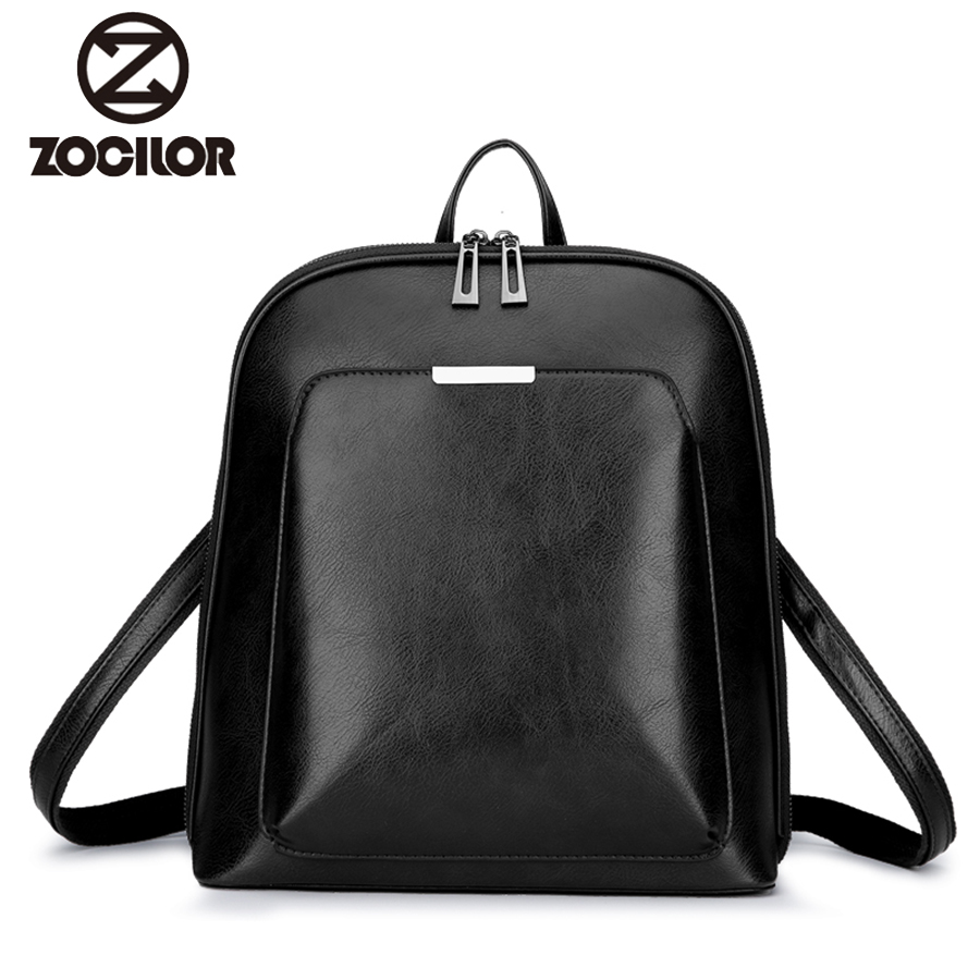 2018 Women Backpack High Quality PU Leather  Fashion Backpacks Female Feminine Casual Large Capacity Vintage Shoulder Bags