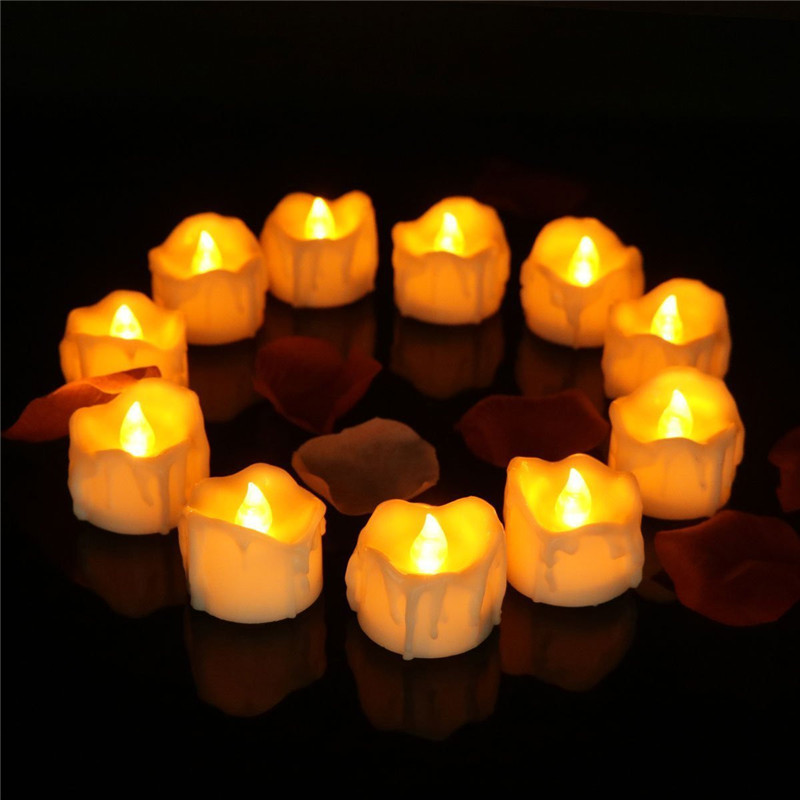 10Pcs Set LED Candle Light With Long Lasting Bright Light Flameless LED Candle Night Lamp Battery Powered Easter Candle Tea Lamp in LED Night Lights from Lights Lighting