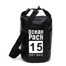 15L Swimming Waterproof Dry Bag Outdoor Sports Multicolor Backpack Water Portable Small Capacity Storage B