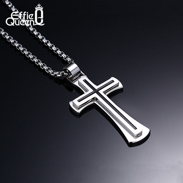316L Stainless Steel Cross  Necklace
