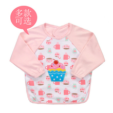 Y03 boy girl winter autumn long sleeved waterproof anti dirty bibs Cotton blouse Eat clothes Baby