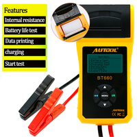 BT 660 Car Battery Test Analyzer 12V/24V Resistance Meter Capacity Voltage Checker Printer Auto Diagnostic tool PK BT360 BT460