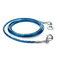 5M 7tons Pvc Car Emergency Steel Wire Towing Rope Thicken Widen Tug Rope Traction String Vehicle