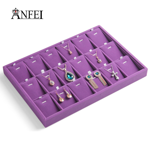 necklace display cases pendant hanger exhibition box fashion jewelry display stand for 18 pendnts tray new arrival