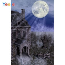 Yeele Happy Halloween Party Photography Background Ancient House Photographic Backdrop Moon Photocall For Photo Studio