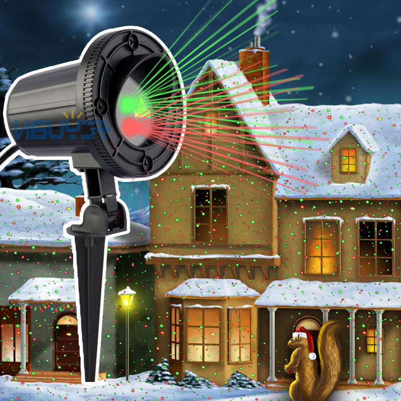 все цены на Christmas Fairy Lights Outdoor Laser Projector Showers Decorations For Home Red Green Static Effect Light Waterproof IP44