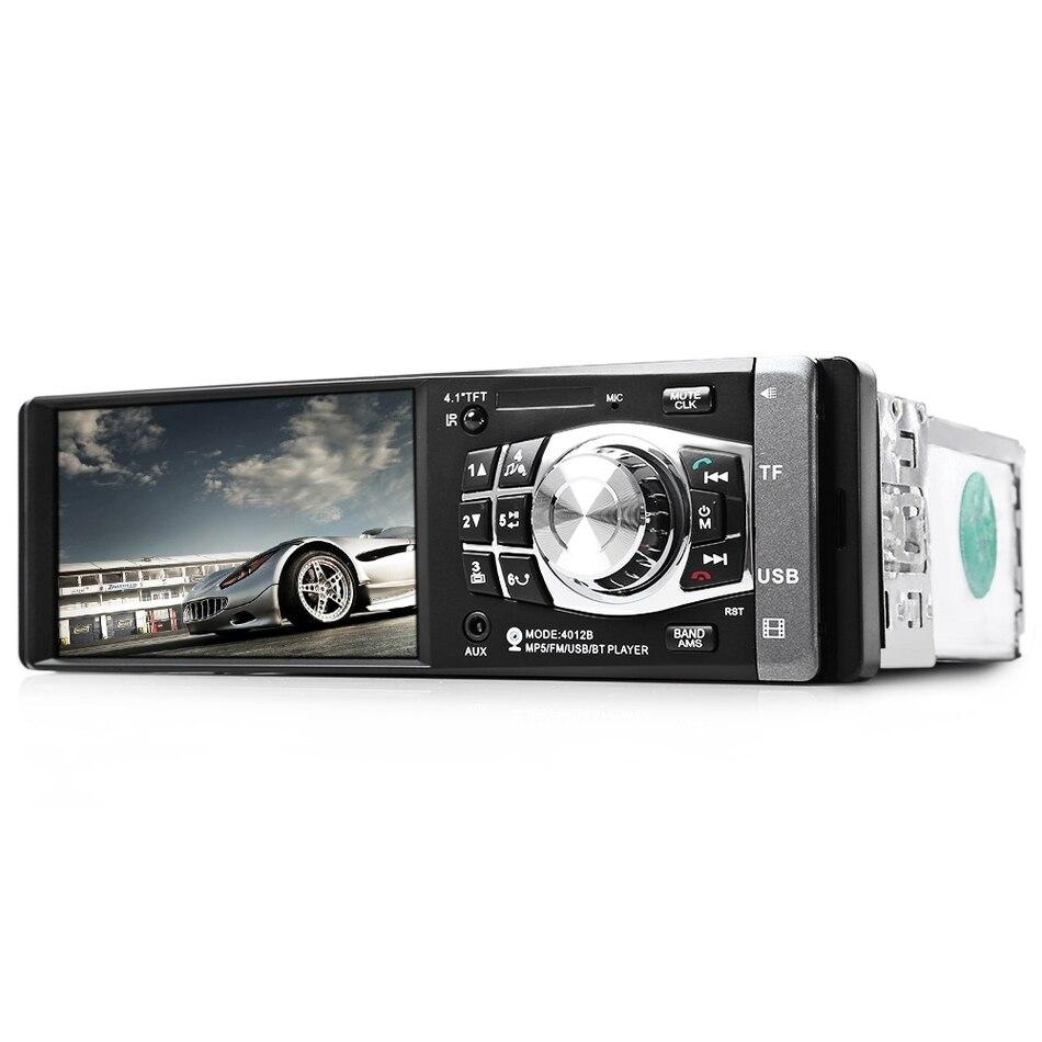 4012B 1 DIN 4.1 pouces autoradio Mp5 Player 1080 P lecteur vidéo télécommande stéréo Bluetooth caméra arrière disponible