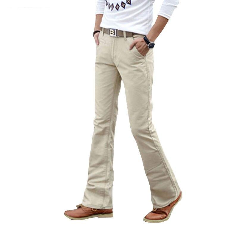 2018 Frühling Sommer Herbst Casual Flare Bein Boot Cut Jeans Männer Dünne Jeans High Fashion Männer Weiß Jean Hosen Größe 27-36 38
